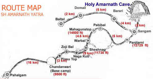 amarnath yatra route map